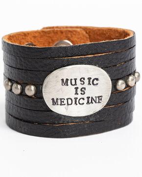 Idyllwind Women's Music is Medicine Black Cuff, Black, hi-res