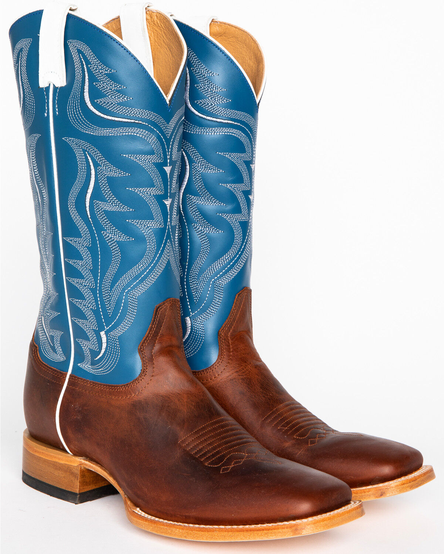 Stockman Cowboy Boots - Wide Square Toe