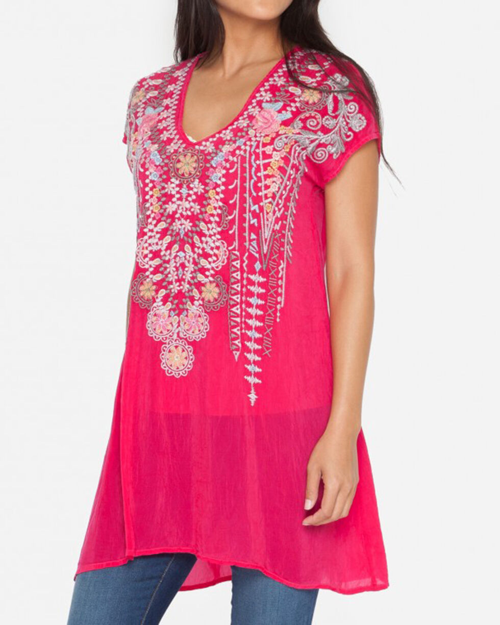 Johnny Was Women's Pomegranate Karineh Tunic, Red, hi-res