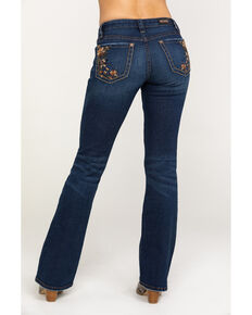 Shyanne Women's Medium Floral Bootcut Jeans, Blue, hi-res