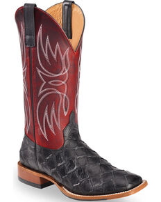 Horse Power Men's Red Apple Blackened Filet Of Fish Boots - Square Toe, Red, hi-res