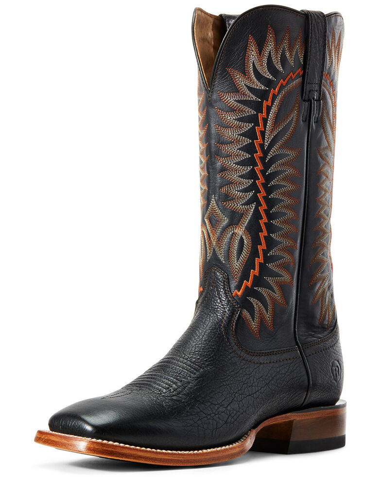 Ariat Men's Elite Felt Western Boots - Wide Square Toe, Black, hi-res