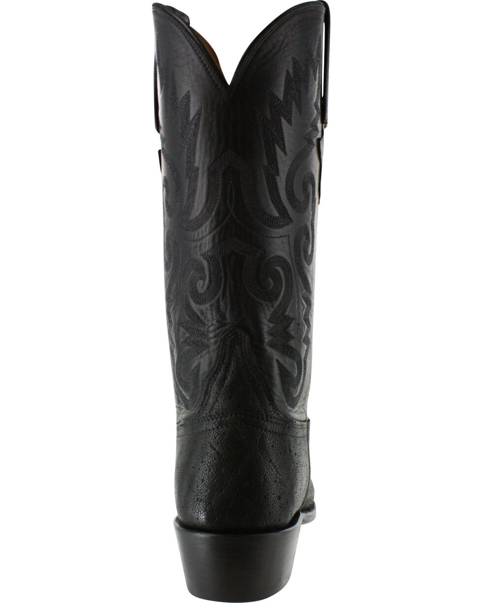 Lucchese Men's Handmade Exotic Elephant Western Boots, Black, hi-res