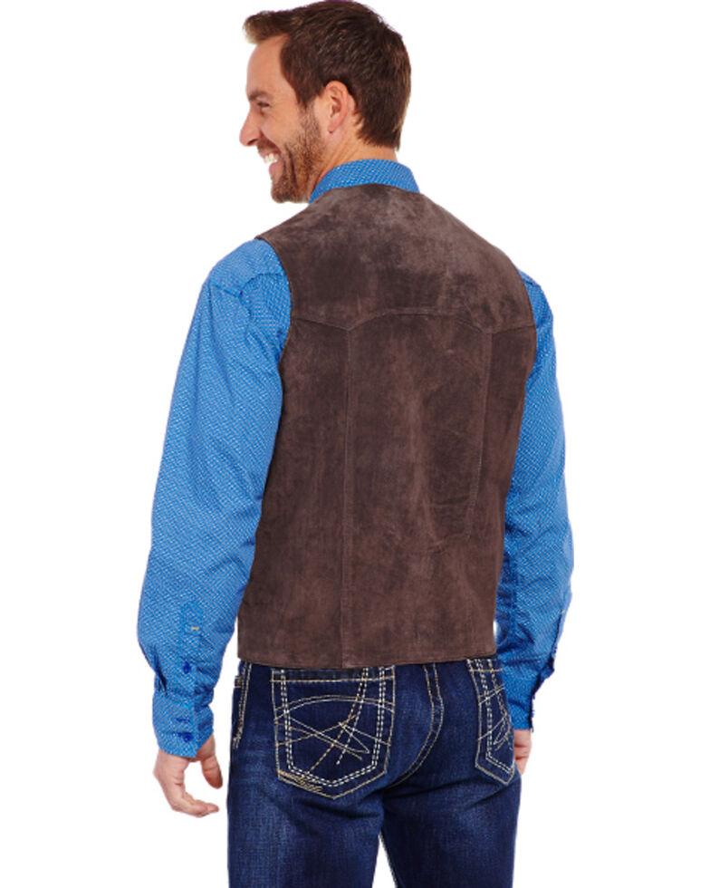 Cripple Creek Men's Suede Leather Vest, Chocolate, hi-res