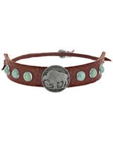 Montana Silversmiths Women's Grounded Bison Leather Bracelet, No Color, hi-res