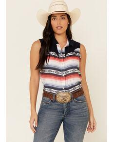 Ariat Women's Multi Serape Summer Solstice Sleeveless Western Core Shirt , Multi, hi-res