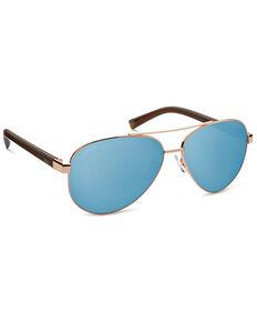 Hobie Broad Shiny Gold & Grey PC Polarized Sunglasses , Gold, hi-res