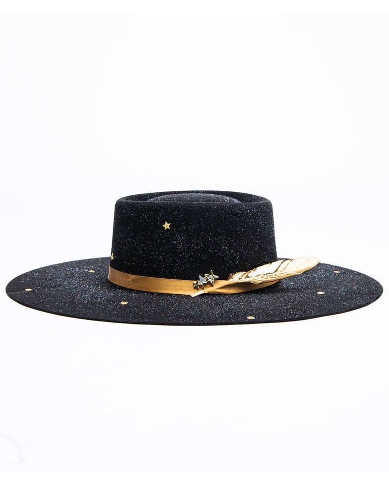 Atwood Hat Co. Women's 5X Spacey Kaycee Wool Western Hat , Black, hi-res