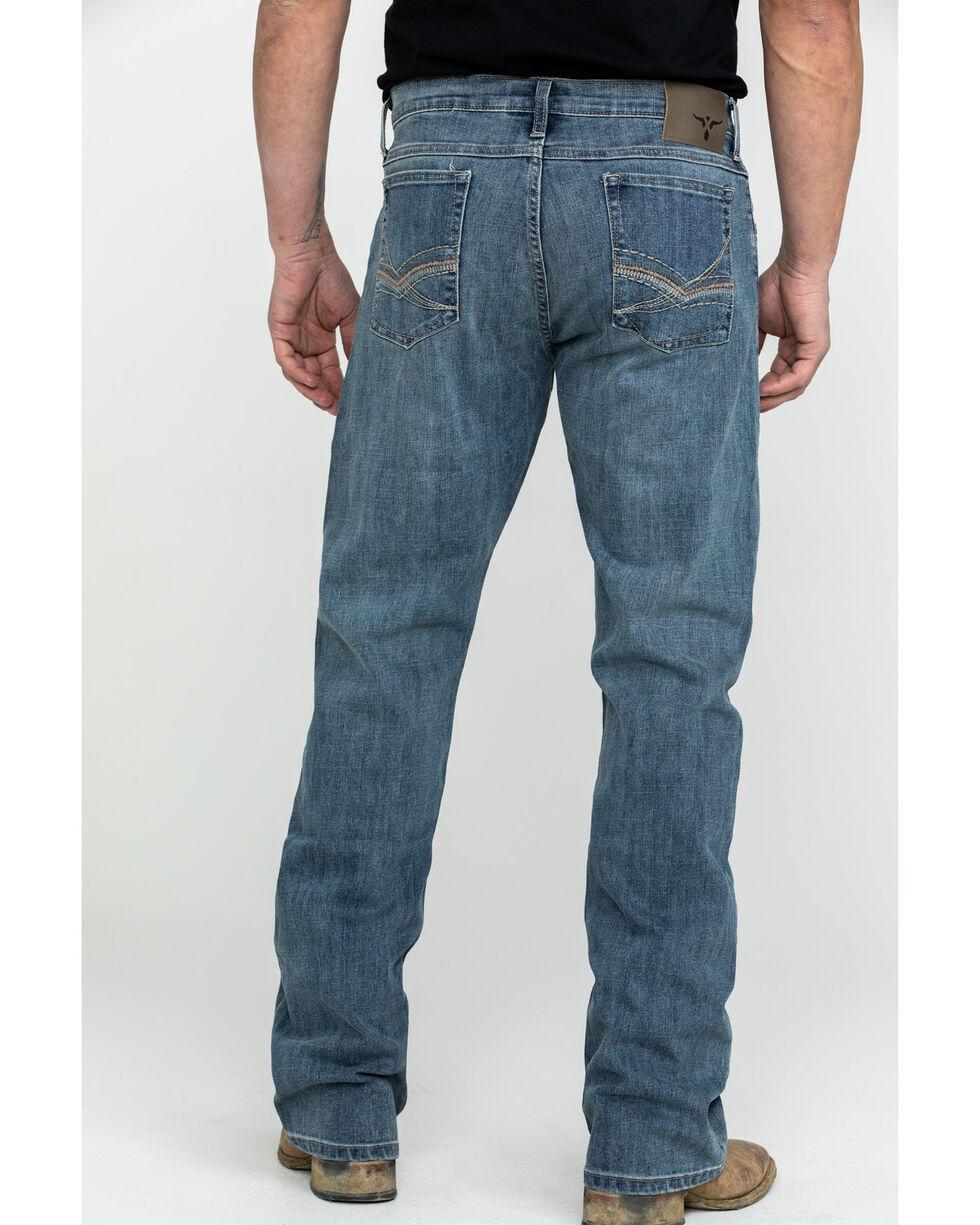 Wrangler Men's Light Denim Slim Boot Jeans - Long , Blue, hi-res