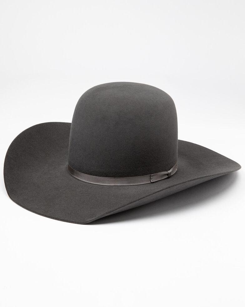 Rodeo King Men's 5X Bull Rider Slate Line Cowboy Felt Hat , Grey, hi-res