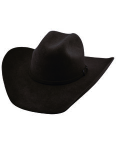Justin Men's 6X Black Kermit Western Felt Hat , Black, hi-res