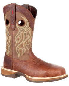 Durango Men's Rebel Waterproof Western Boots - Composite Toe, Brown, hi-res