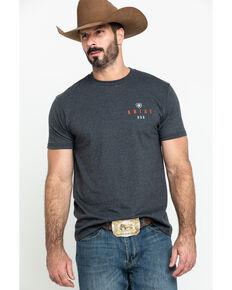 Ariat Men's Charcoal Overlap Graphic T-Shirt , Charcoal, hi-res
