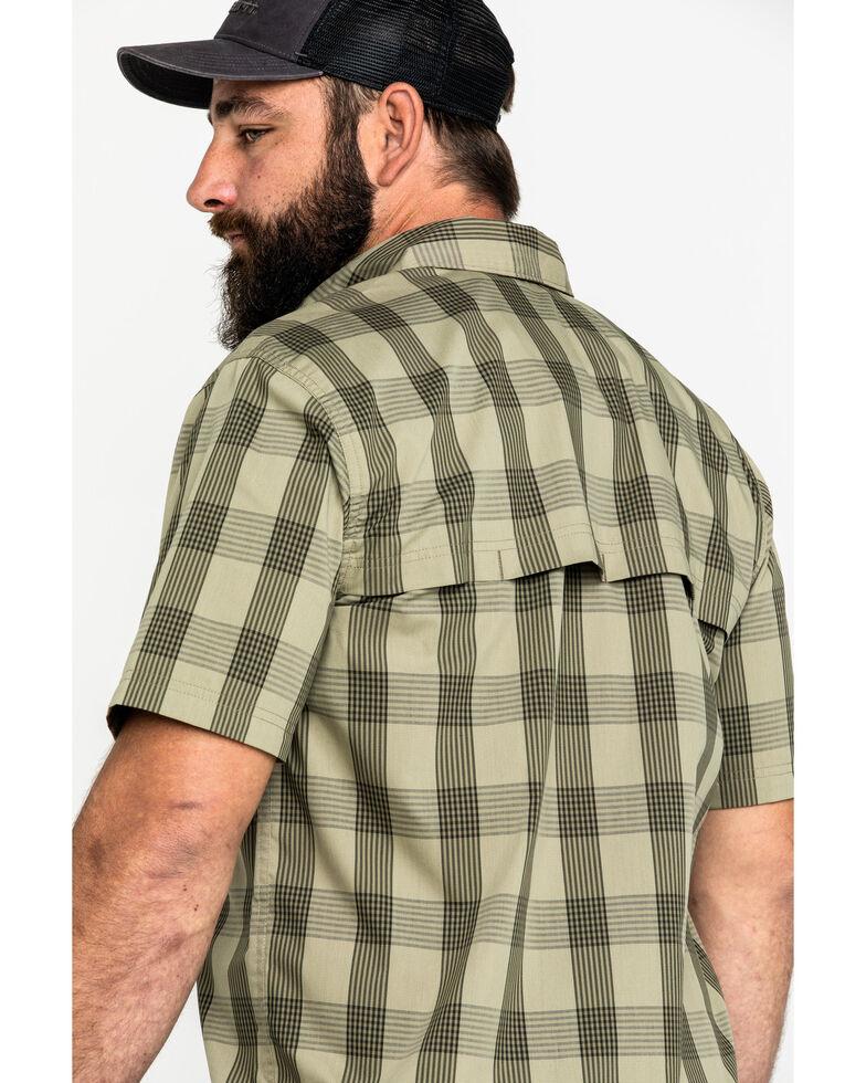 Carhartt Men's Olive Rugged Flex Rigby Short Sleeve Plaid Work Shirt , Olive, hi-res