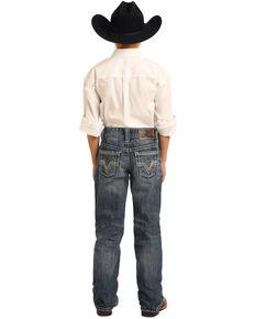 Panhandle Boys' BB Gun Medium Vintage Boot Jeans , Blue, hi-res