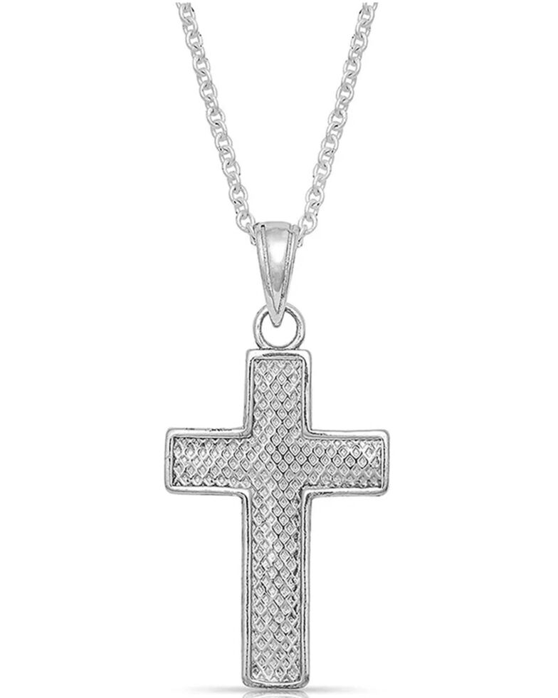 Montana Silversmiths Women's Captured In The Faith Cross Necklace, Silver, hi-res
