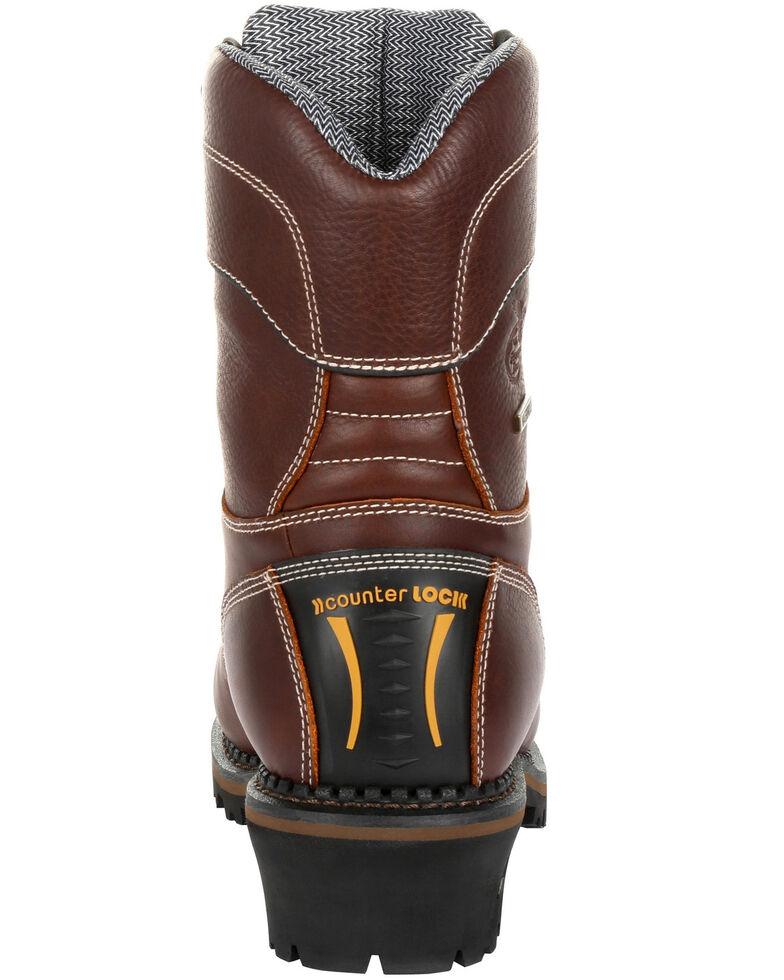 Georgia Boot Men's Amp LT Insulated Waterproof Work Boots - Composite Toe, Brown, hi-res