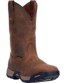 Dan Post Tan Hudson Waterproof Work Boots - Soft Square Toe , Tan, hi-res