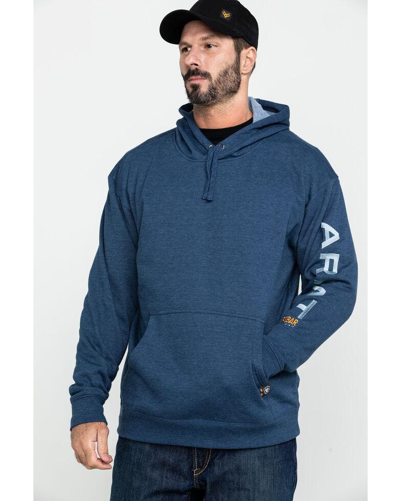 Ariat Men's Rebar Graphic Hooded Work Sweatshirt  , Navy, hi-res