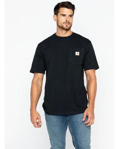 Carhartt Men's Solid Pocket Short Sleeve Work T-Shirt, Black, hi-res