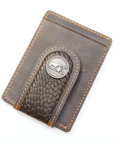 Cody James Men's Croc Embossed Money Clip Wallet, Chocolate, hi-res