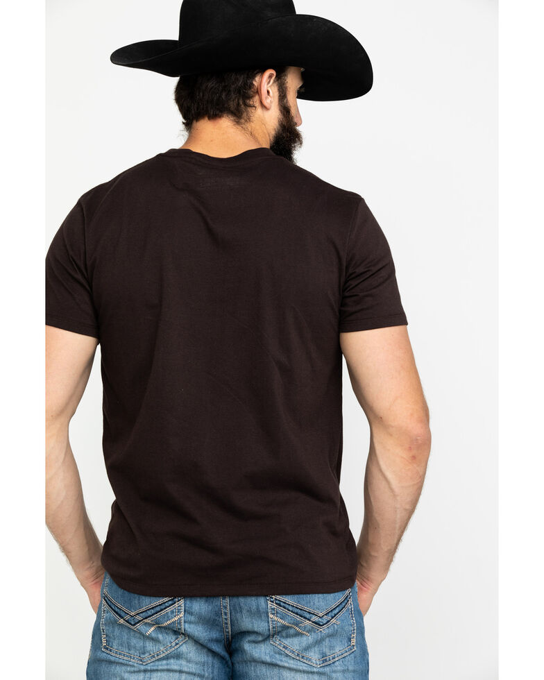 Rock & Roll Cowboy Men's Scenic Bull Rider Graphic T-Shirt, Brown, hi-res