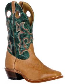 Boulet Men's Roughstock Western Boots - Square Toe, Cognac, hi-res