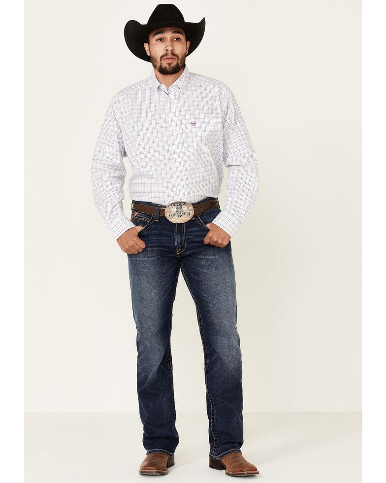 Ariat Men's Howard Multi Small Plaid Long Sleeve Western Shirt , Multi, hi-res
