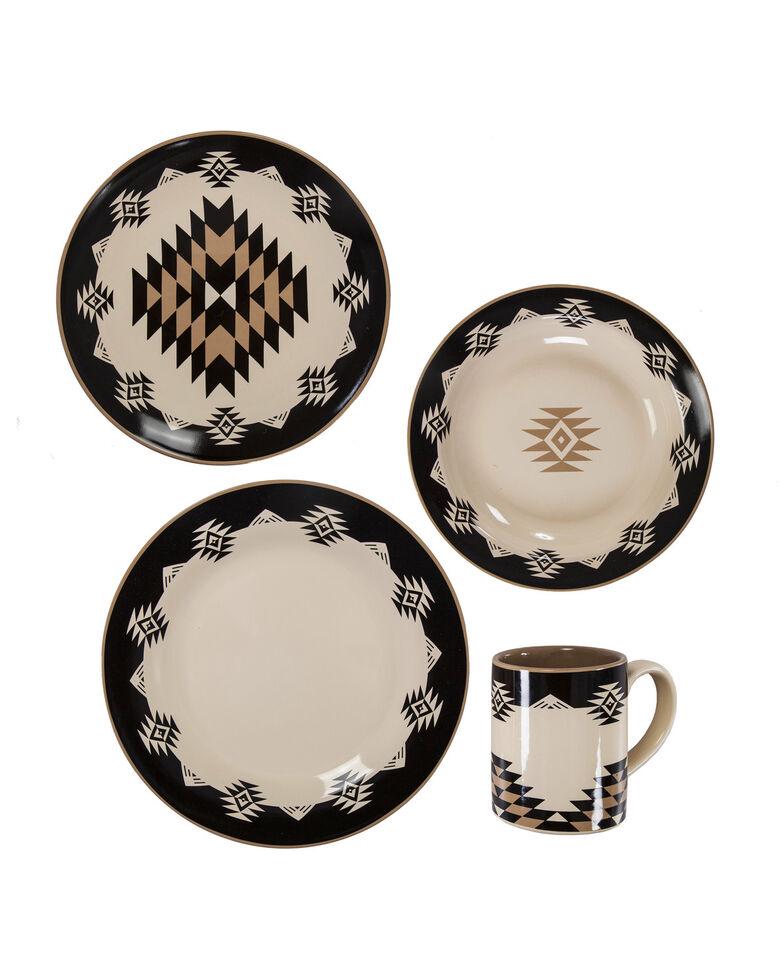 HiEnd Accents Chalet 16pc Ceramic Dinnerware Set, Multi, hi-res