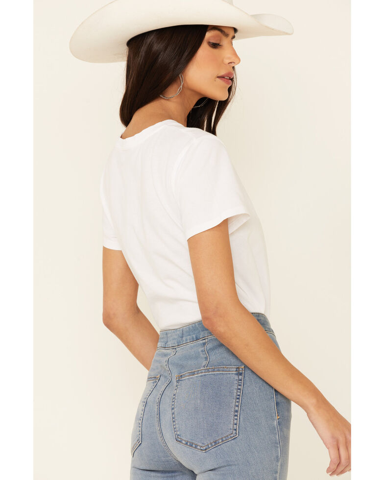 Levi's Women's White Floral Batwing Logo Graphic Tee, White, hi-res