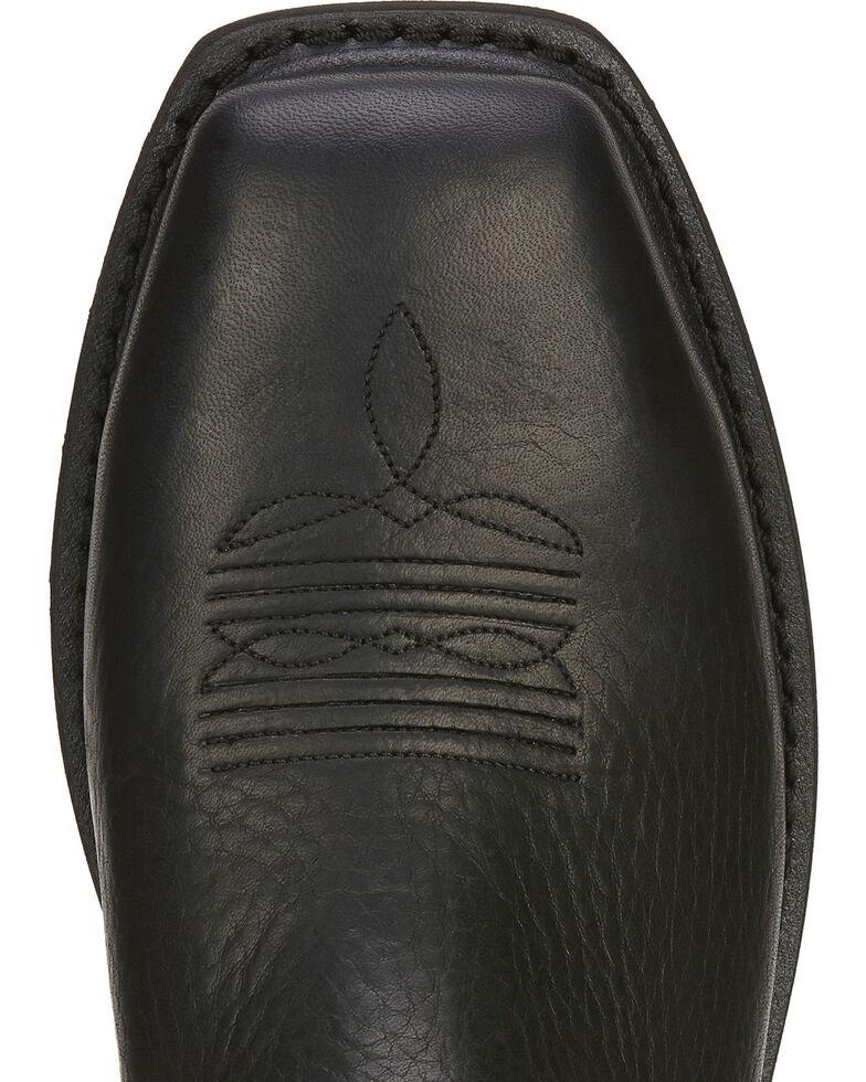 Ariat Men's Sierra Western Work Boots - Steel Toe, Black, hi-res