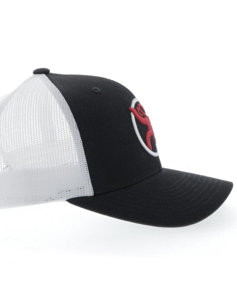 HOOey Men's Black & White Strap Ball Cap , Black, hi-res