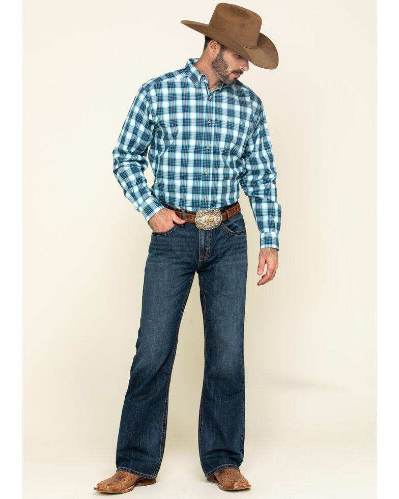 Ariat Men's Roselle Multi Plaid Long Sleeve Western Shirt - Tall , Multi, hi-res