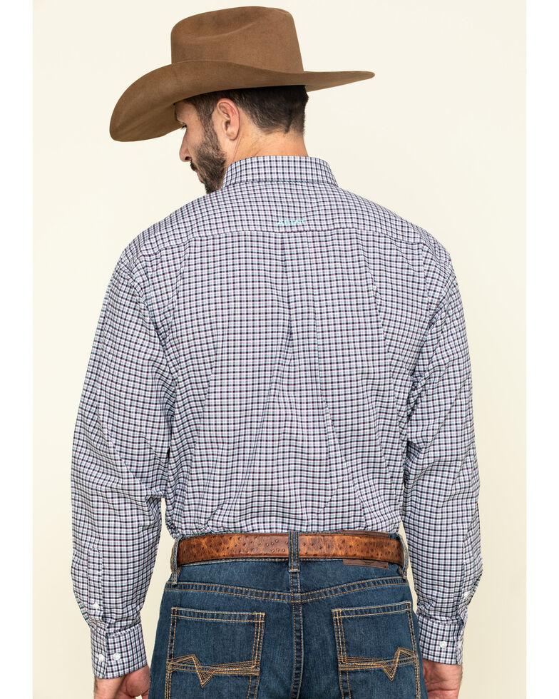 Ariat Men's Ridgefield Stretch Small Plaid Long Sleeve Western Shirt , Multi, hi-res