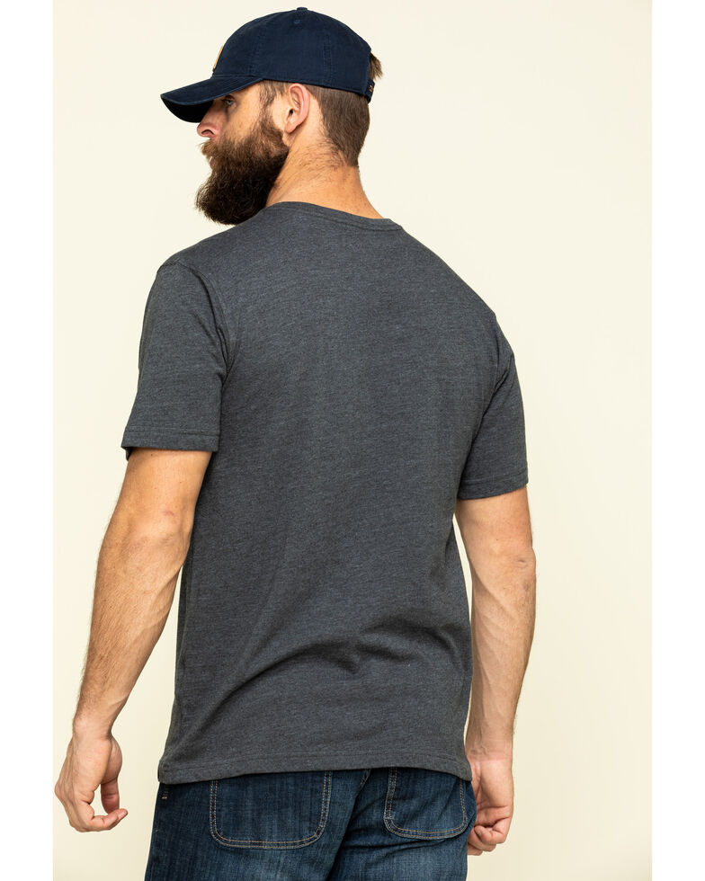 Carhartt Men's Carbon Solid Graphic Heavyweight Relaxed Short Sleeve Work T-Shirt , Grey, hi-res