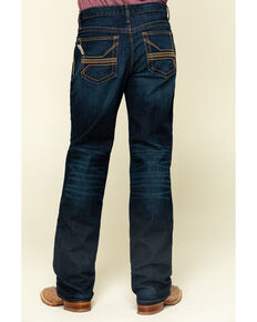 Cinch Men's Grant Performance Denim Stretch Relaxed Bootcut Jeans , Indigo, hi-res
