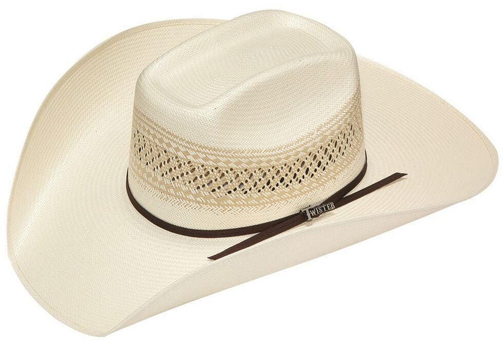 Twister 10X Shantung Straw Cowboy Hat, Tan, hi-res