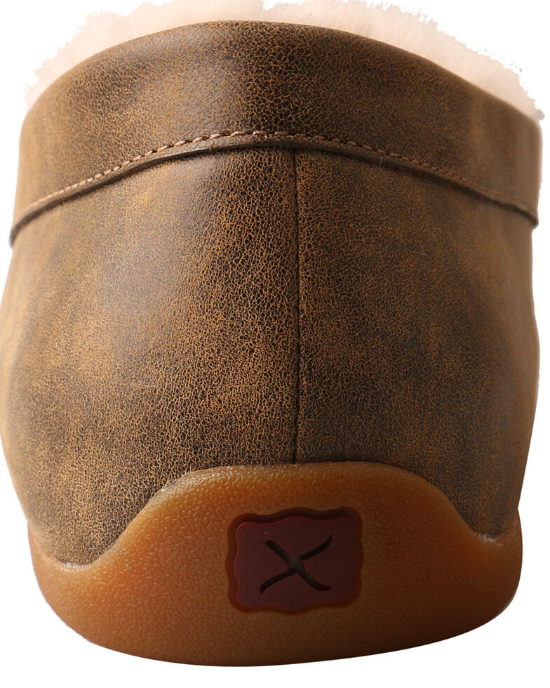 Twisted X Men's Bomber Slip-On Moccasin Shoes - Moc Toe, Brown, hi-res
