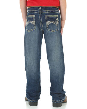Wrangler 20X Youth Boys' No. 42 Vintage Jeans - Boot Cut , Blue, hi-res