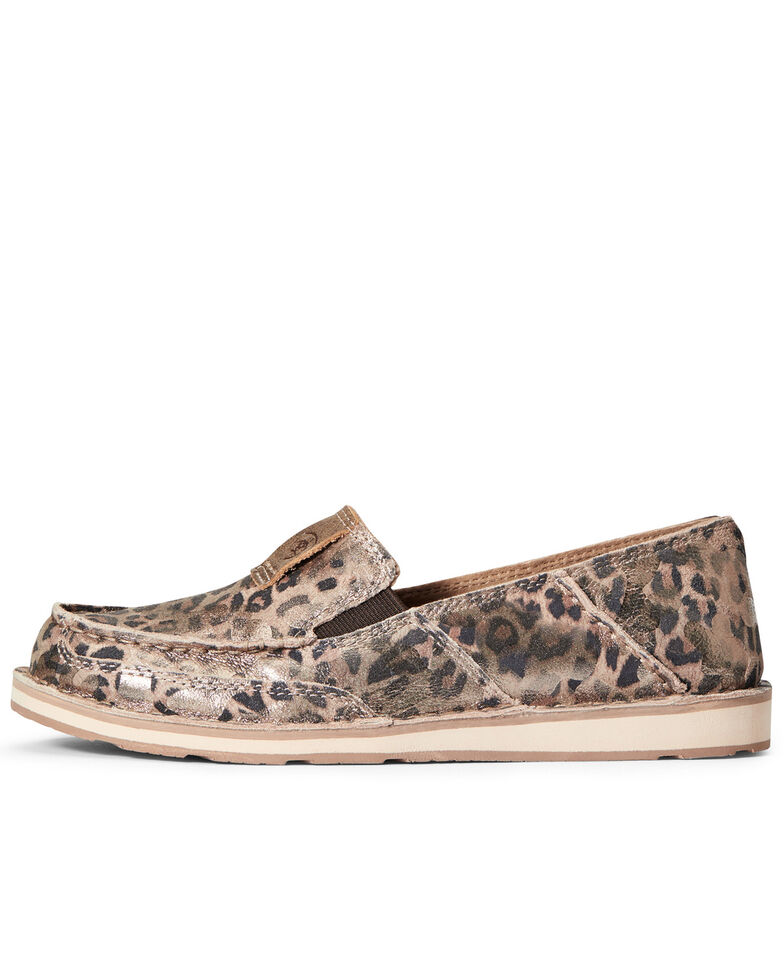 Ariat Women's Leopard Print Cruiser Shoes - Moc Toe, Brown, hi-res