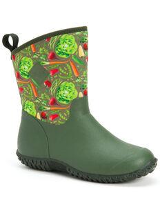 Muck Boots Women's Veggie Muckster Rubber Boots - Round Toe, Green, hi-res