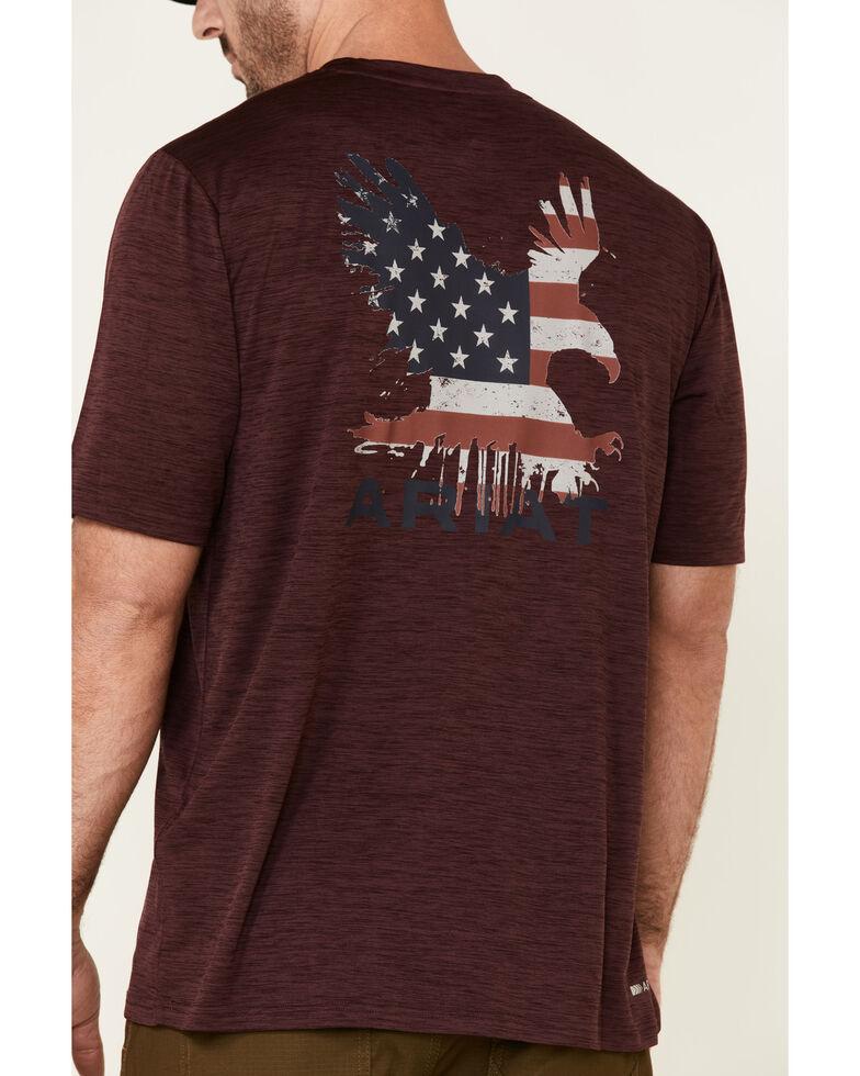 Ariat Men's Burgundy Eagle Charger Logo Graphic T-Shirt , Burgundy, hi-res