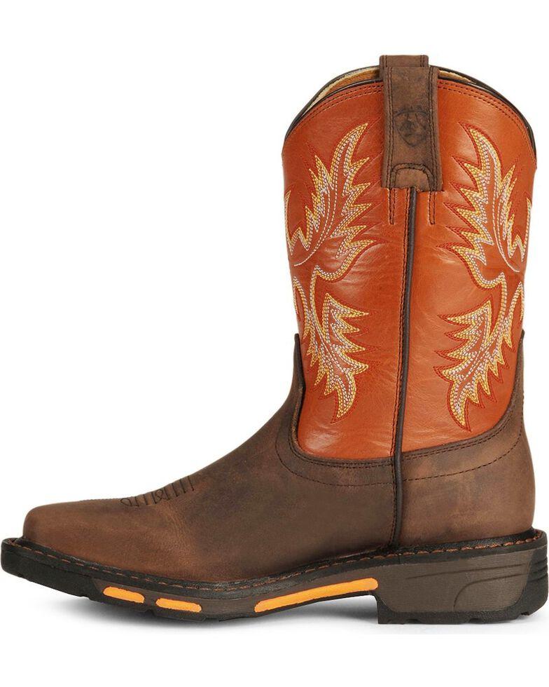 Ariat Youth Boys' Earth Workhog Cowboy Boots, Earth, hi-res