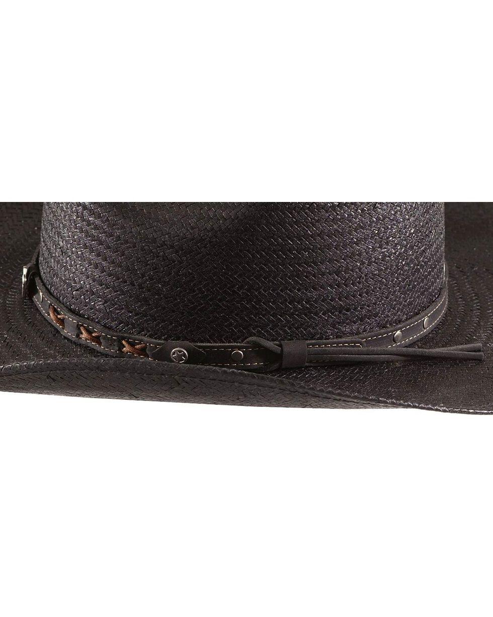 Jack Daniel's Black Straw Cowboy Hat , Black, hi-res