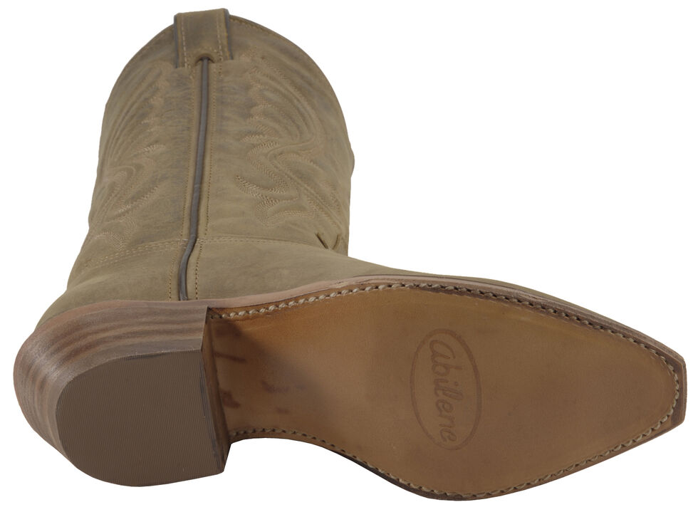 Abilene Oiled Cowhide Cowgirl Boots - Pointed Toe, Brown, hi-res