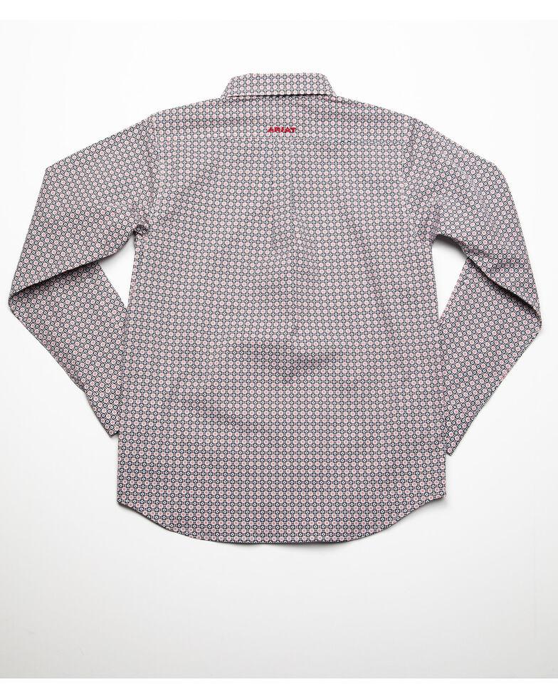 Ariat Boys' Danson Stretch Geo Print Long Sleeve Western Shirt , Multi, hi-res