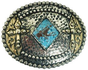"""AndWest Vintage """"Amistad"""" Two-Tone Cross Belt Buckle , Two Tone, hi-res"""