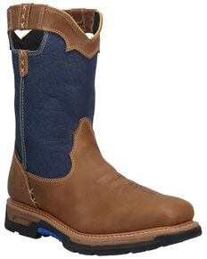 Dan Post Men's Blue Scoop EH Waterproof Western Work Boots - Composite Toe , Blue, hi-res