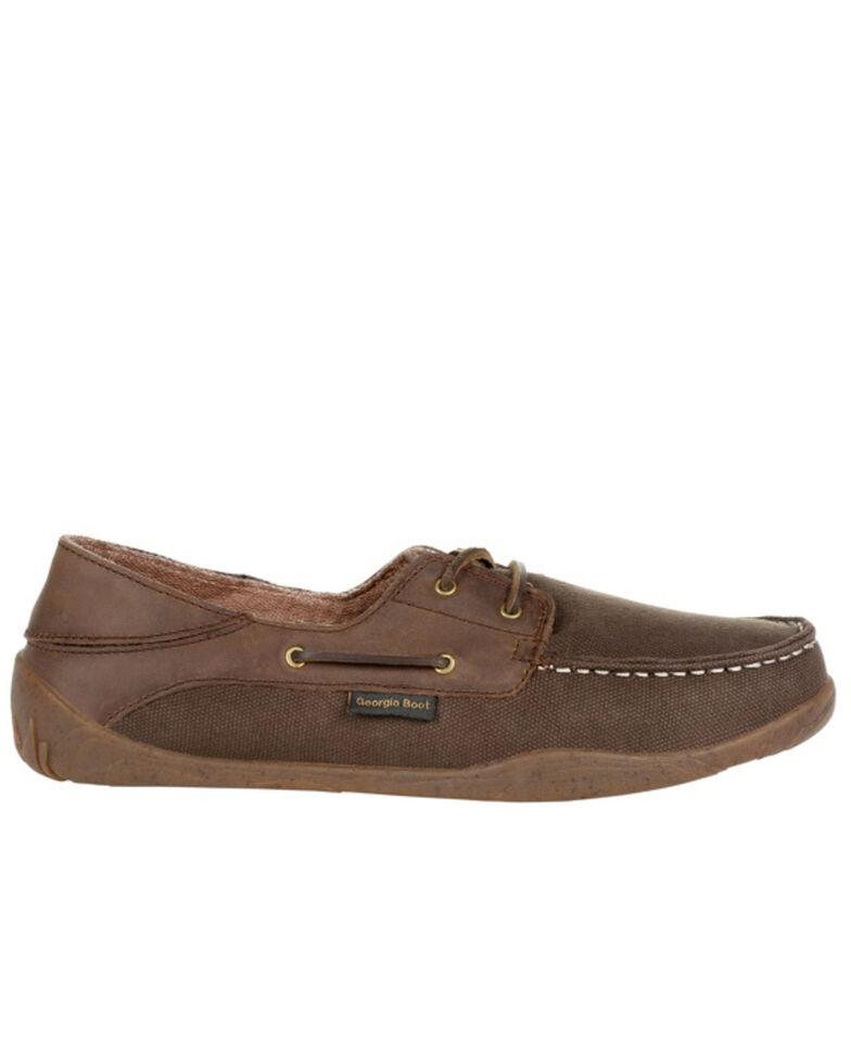 Georgia Boot Men's Cedar Falls Casual Shoes - Moc Toe, Brown, hi-res