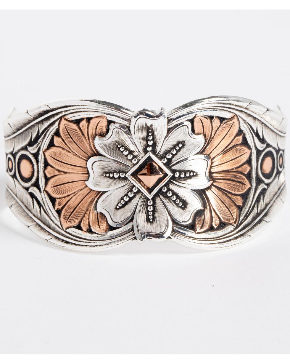 Montana Silversmiths Women's Silver Kaleidoscope Cuff Bracelet, Silver, hi-res